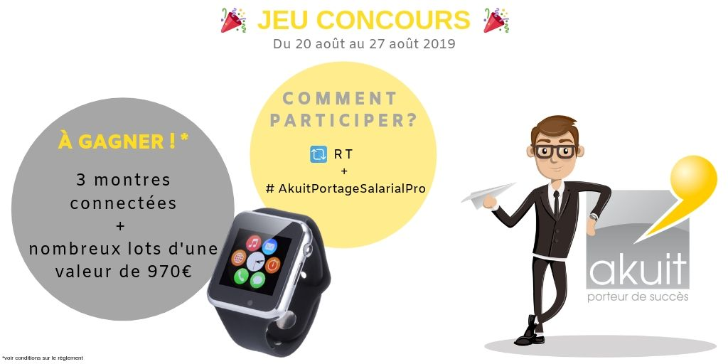 jeu concours Twitter portage salarial
